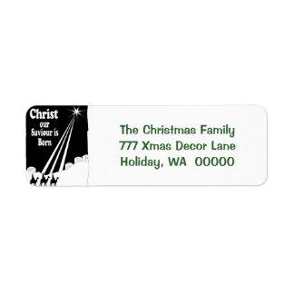 Three Kings Christmas Card Return Address Stickers