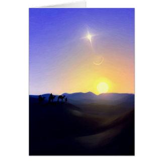 Three Kings Comet Christmas Card