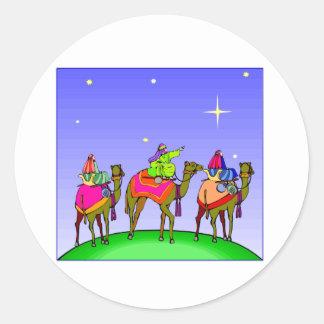 Three Kings Follow Star Classic Round Sticker