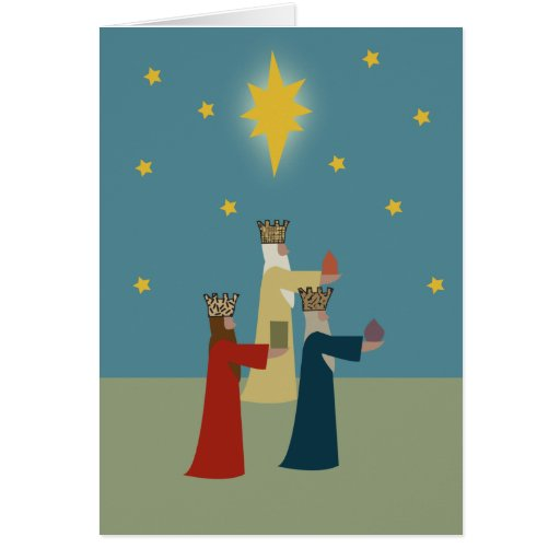 three_kings greeting card