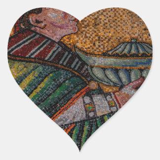 Three Kings II Melchior Heart Sticker
