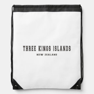 Three Kings Islands New Zealand Drawstring Bag