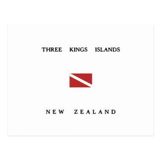 Three Kings Islands New Zealand Scuba Dive Flag Post Card