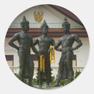 Three Kings Monument Classic Round Sticker