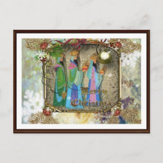 Three Kings Of Orient Christmas Postcard