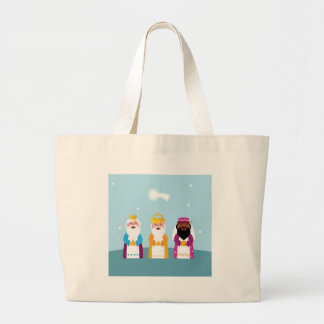 Three kings original artwork large tote bag