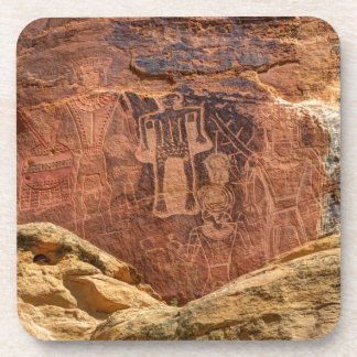 Three Kings Petroglyph - Mcconkie Ranch - Utah Beverage Coaster