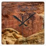 Three Kings Petroglyph - Mcconkie Ranch - Utah Square Wall Clock