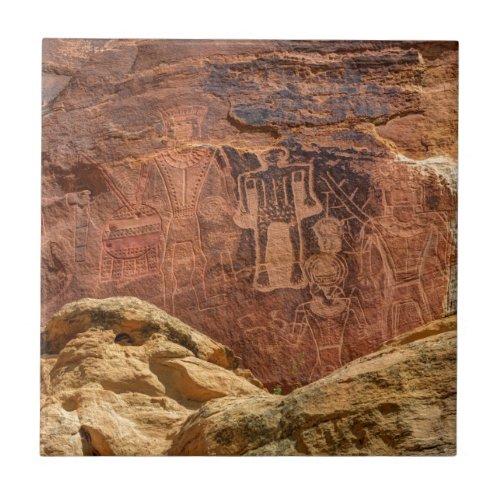 Three Kings Petroglyph _ Mcconkie Ranch _ Utah Tile