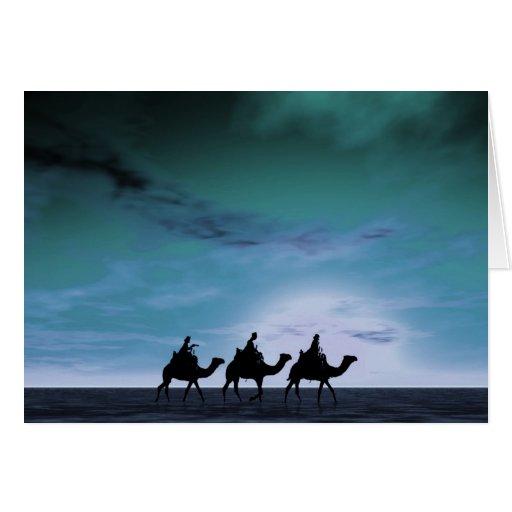 Three Kings Sunset 3 Greeting Card