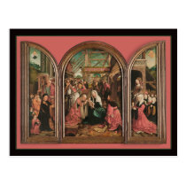 Three Kings Worship Baby Jesus Postcard