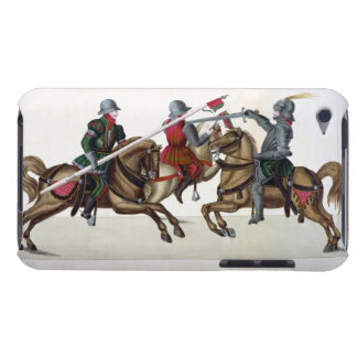 Three knights at a tournament, plate from 'A Histo Barely There iPod Cover