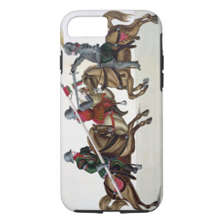 Three knights at a tournament, plate from 'A Histo iPhone 8/7 Case