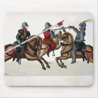 Three knights at a tournament, plate from 'A Histo Mouse Pad