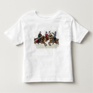 Three knights at a tournament, plate from 'A Histo Toddler T-shirt