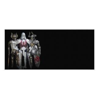 Three knights rack card