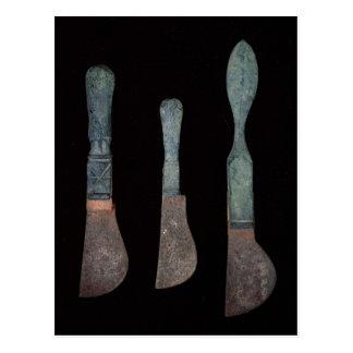 Three Knives from Pompeii, Roman, c.100 BC-79 AD Postcard