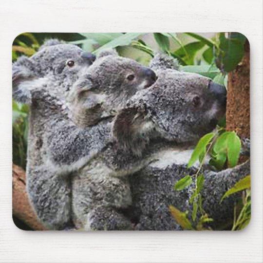Three Koala's in a Tree Mouse Pad