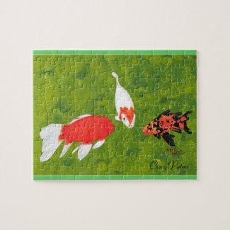 Three Koi Fish Swimming, Picture Puzzle