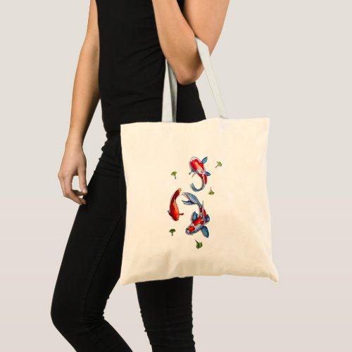 three kois tote bag