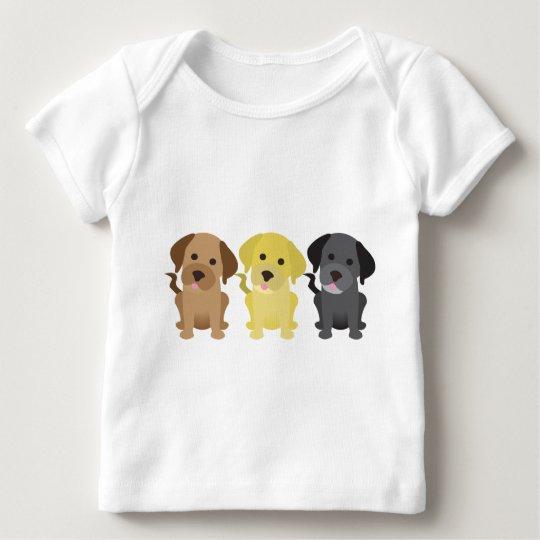 Three Labrador Retrievers Baby T-Shirt