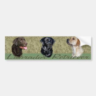 Three Labrador Retrievers bumper sticker