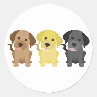 Three Labrador Retrievers Classic Round Sticker