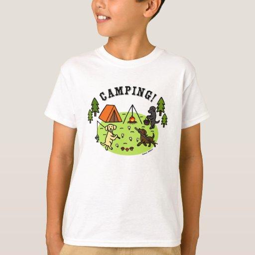 Three Labradors Camping Tshirt