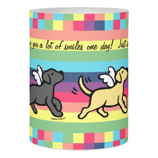 Three Labradors Trotting Memorial LED Candle