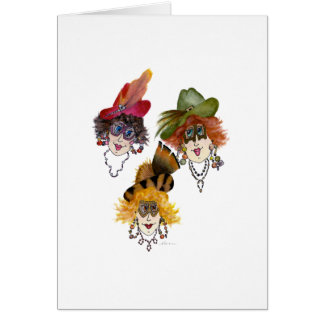 Three Ladies and Their Fat Pants Humorous Card