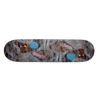 Three ladies' rings custom skate board