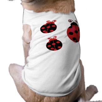 Three Ladybugs Dog T-shirt