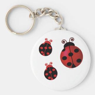 Three Ladybugs Key Chains