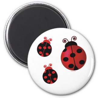 Three Ladybugs Magnet