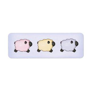Three Lambs Sticker Label