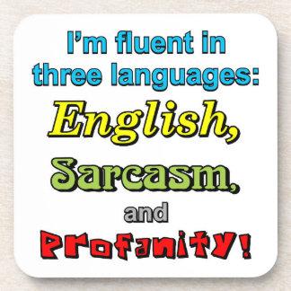 THREE LANGUAGES DRINK COASTERS