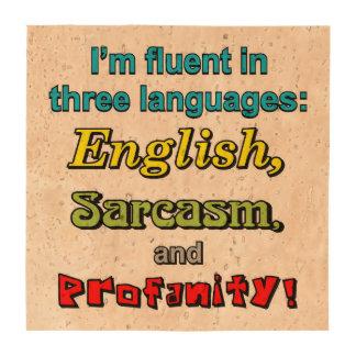 THREE LANGUAGES BEVERAGE COASTER