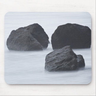 Three large boulders on Ruby Beach, Olympic Mouse Pad