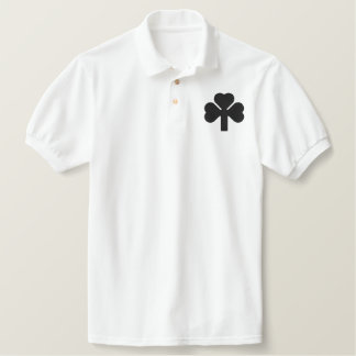 THREE LEAF CLOVER EMBROIDERED POLO SHIRT