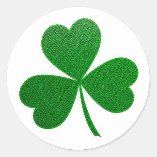 Three Leaf Clover -holiday- Classic Round Sticker