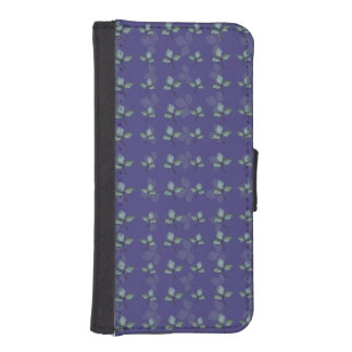 Three Leaf Clover Pattern Wallet Phone Case For iPhone SE/5/5s