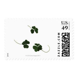 Three-leaf clover postage stamp
