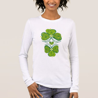 Three Leaf Clovers Long Sleeve T-Shirt