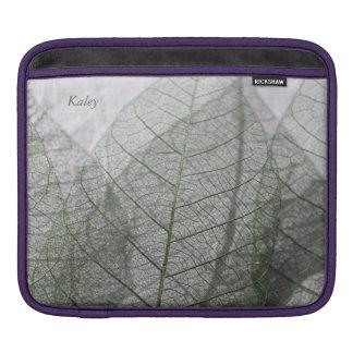Three leaf skeletons sleeve for iPads