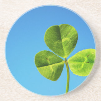three leaved clover drink coaster
