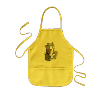 Three Leaves and a Tiger Kitten Kids' Apron