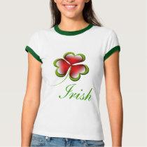 three leaves heart Clover Irish Gifts T-Shirt