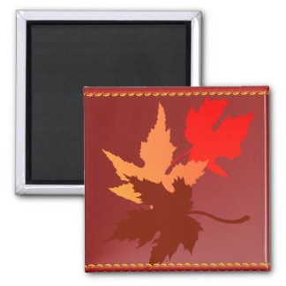 Three Leaves Magnet