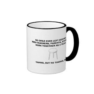 three leg stool bw, NO CHILD EVER LEFT BEHINDWH... Ringer Mug