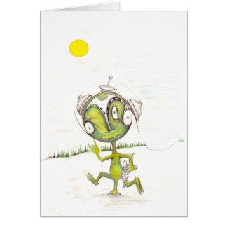 Three Legged Alien Card